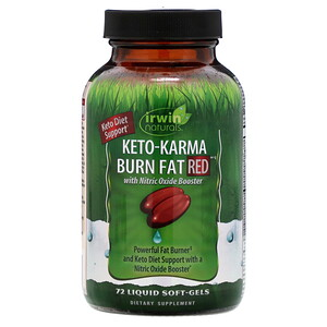 Irwin Naturals, Keto-Karma Burn Fat RED , 72 Liquid Soft-Gels'