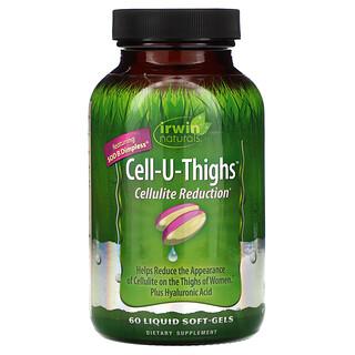 Irwin Naturals, Cell-U-Thighs, уменьшение проявлений целлюлита, 60мягких таблеток с жидкостью