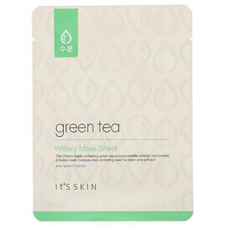 It's Skin, водяная тканевая маска с зеленым чаем, 1шт., 17г