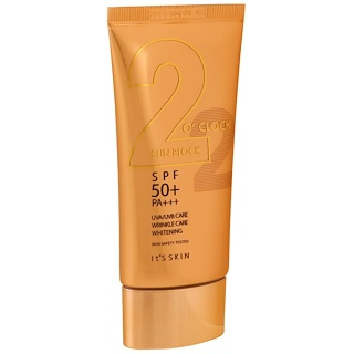 It's Skin, 2 O' Clock Sunblock, PA+++, SPF 50+, 50 ml