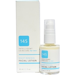 145 Intelligent Skincare for Men, Night Renewal Facial Lotion, By Earth Science, 1 fl oz (30 ml)