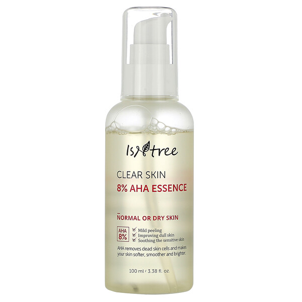 Isntree, 淨透肌膚 8% AHA 精華,3.38 液量盎司(100 毫升)
