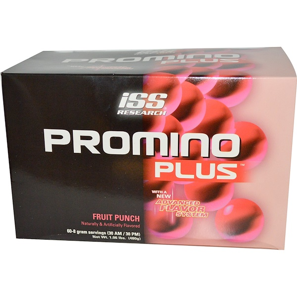 ISS Research, Promino Plus, Fruit Punch, 60-8 g Servings (Discontinued Item)