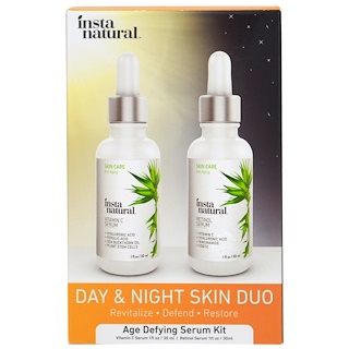 InstaNatural, Day & Night Skin Duo, Age Defying Serum Kit, 2 Bottles, 1 oz (30 ml) Each