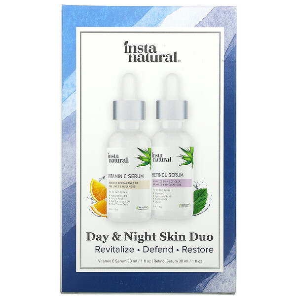 InstaNatural, Day & Night Skin Duo, 2 Bottles, 1 oz (30 ml) Each