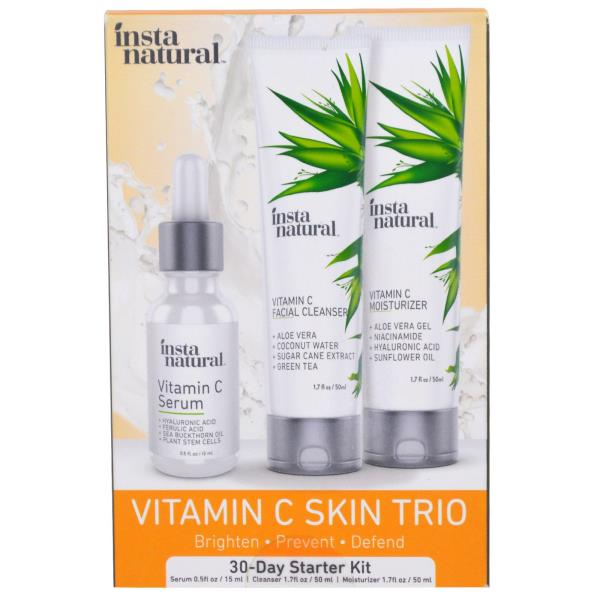 InstaNatural, Vitamin C Skin Trio, 30- Day Starter Kit, 3 Piece Kit