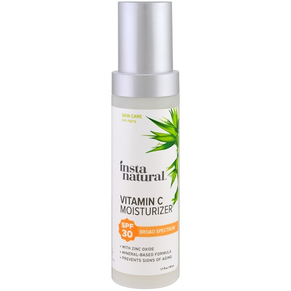 InstaNatural, Vitamin C Moisturizer, SPF 30, Mineral Sunscreen, 1.7 fl oz (50 ml)