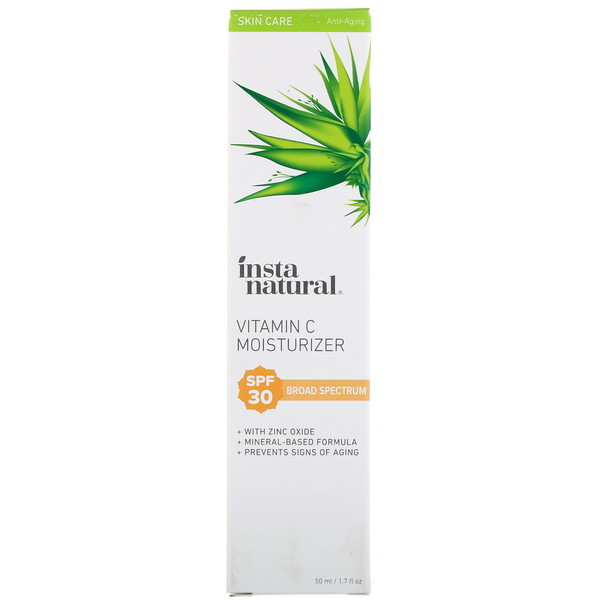 InstaNatural, Vitamin C Moisturizer, SPF 30, Natural Mineral Sunscreen, 1.7 fl oz (50 ml)