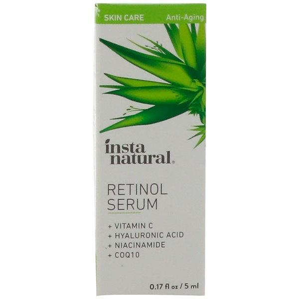 InstaNatural, Retinol Serum with Hyaluronic Acid + Vitamin C, Anti-Aging, 0.17 fl oz (5 ml)