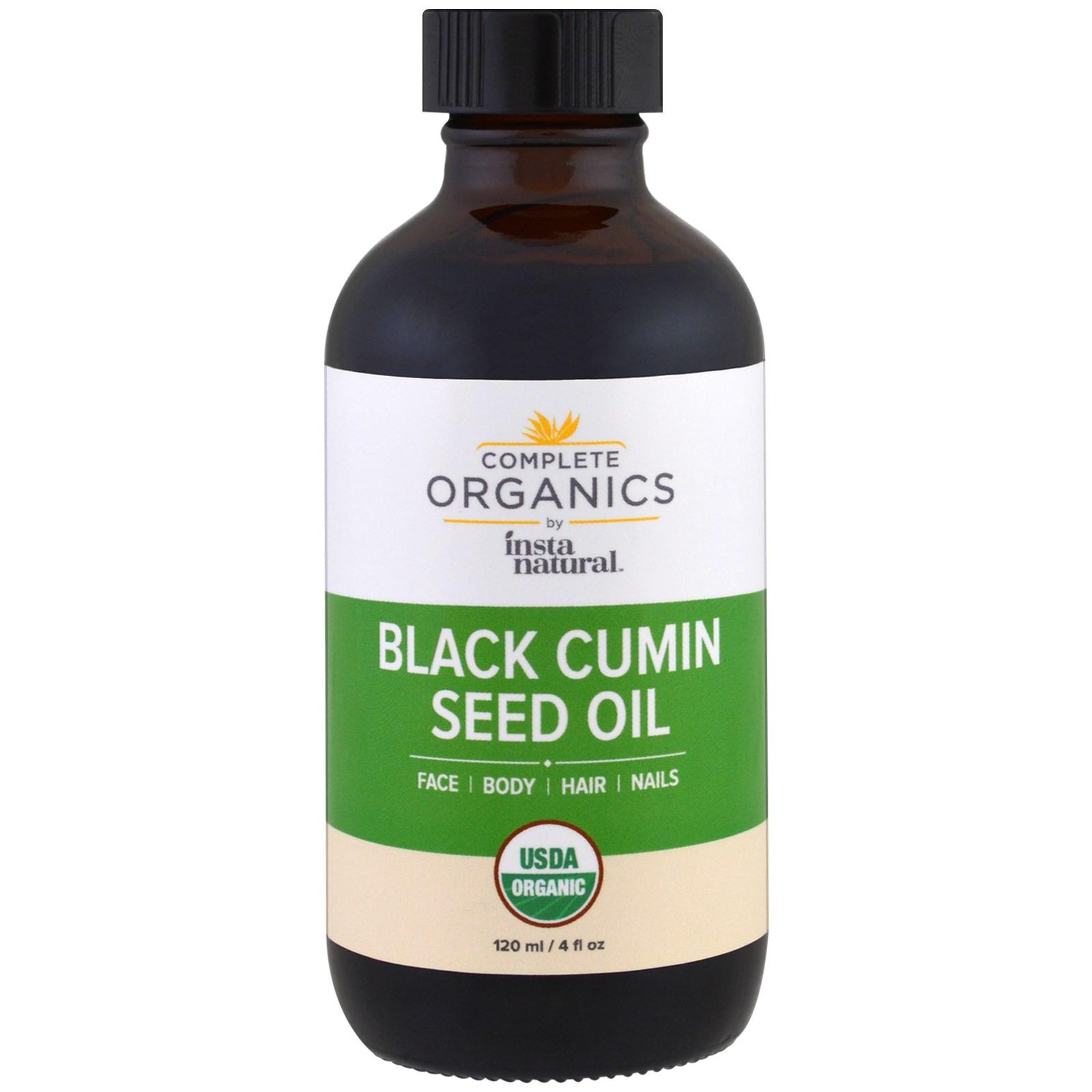 InstaNatural, Complete Organic, масло из семян черного тмина, 120 мл (4 жидких унции)