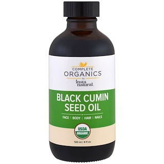 InstaNatural, Complete Organic Black Cumin Seed Oil, 4 fl oz (120 ml)