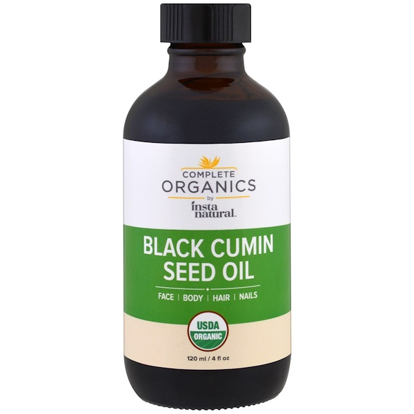 InstaNatural, Complete Organics, Black Cumin Seed Oil, 4 fl oz (120 ml) (Discontinued Item)