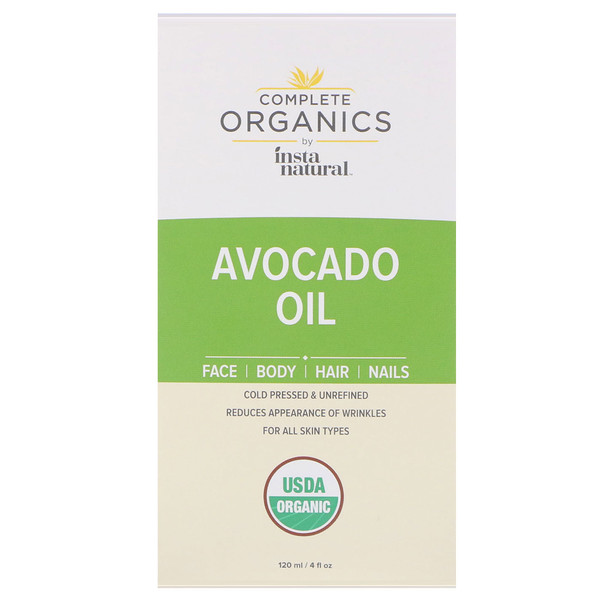 InstaNatural, Complete Organics Avocado Oil, 4 fl oz (120 ml) (Discontinued Item)