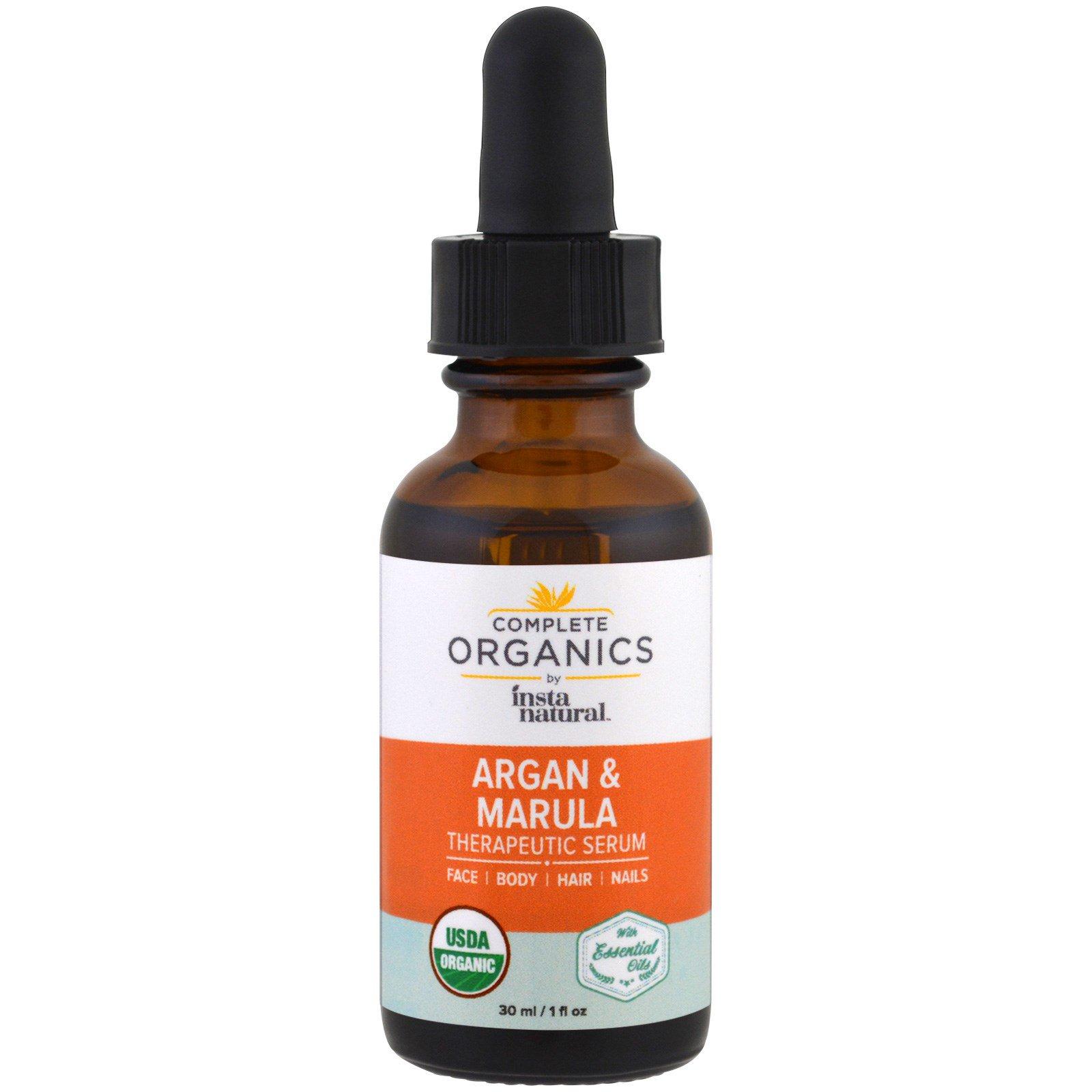 InstaNatural, Complete Organics, Therapeutic Serum, Argan Marula Oil, 1 fl oz (30 ml)