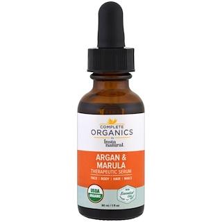 InstaNatural, Suero terapéutico con aceite de argán y marula completamente orgánico, 1 fl. Oz (30 ml)