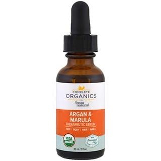 InstaNatural, Complete Organics Argan Marula Oil Therapeutic Serum, 1 fl oz (30 ml)