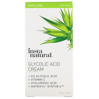 InstaNatural, Glycolic Acid Cream, 1.7 fl oz (50 ml)