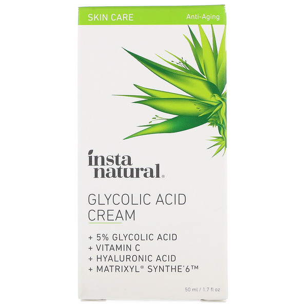 InstaNatural, Glycolic Acid Cream, 1.7 fl oz (50 ml) (Discontinued Item)
