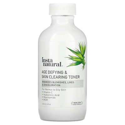 InstaNatural Age Defying & Skin Clearing Toner, 4 fl oz (120 ml)