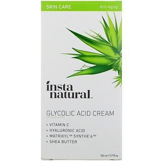 InstaNatural, Glycolic Acid Cream, 1.7 fl oz (50 ml)