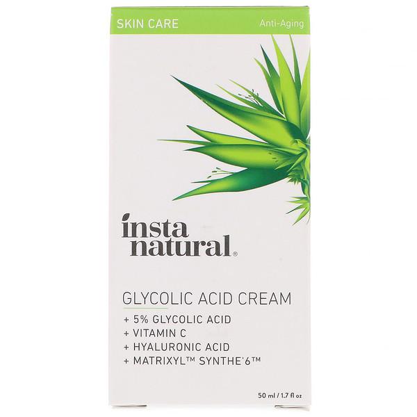 InstaNatural, 5% Glycolic Acid Cream, Anti-Aging, 1.7 fl oz (50 ml) (Discontinued Item)