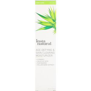 Инстанатурал, Age Defying & Skin Clearing Moisturizer, Anti-Aging, 1.5 fl oz (44 ml) отзывы покупателей