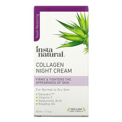 Купить InstaNatural Ночной крем с коллагеном, 50мл (1, 7жидк.унции)