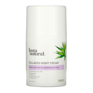 InstaNatural, Crema nocturna con colágeno, 1.7 oz fl (50 ml)