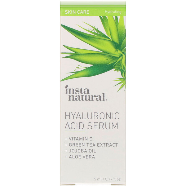 InstaNatural, Hyaluronic Acid Serum, Hydrating, 0.17 fl oz (5 ml) (Discontinued Item)