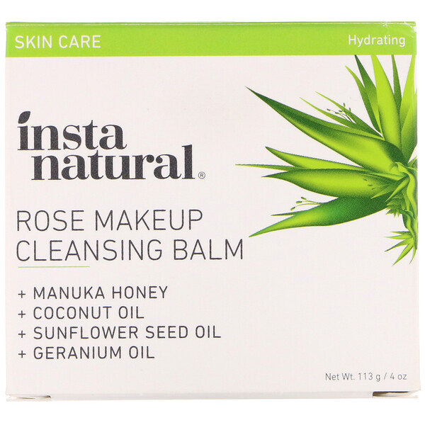 Rose Makeup Cleansing Balm, Hydrating, 4 oz (113 g)