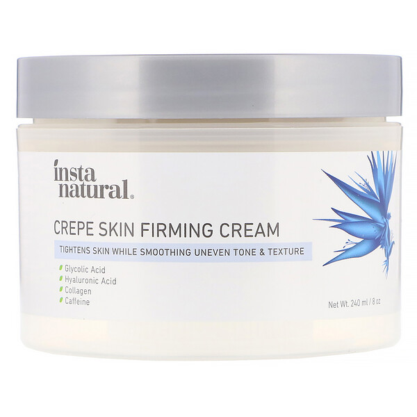 InstaNatural, Crepe Skin Firming Cream, Body Treatment, 8 oz (240 ml)