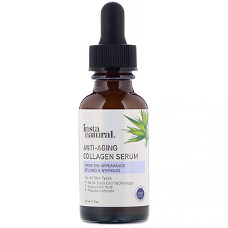 InstaNatural, مصل مقاومة الشيخوخة بالكولاجين، أونصة سائلة واحدة (30 مل)