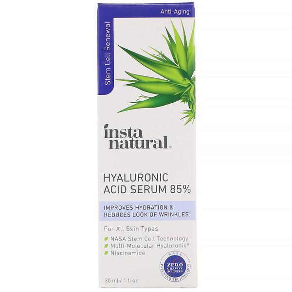 InstaNatural, مصل حمض الهيالورنيك 85%، مكافح للشيخوخة، 1 أونصة سائلة (30 ملل)