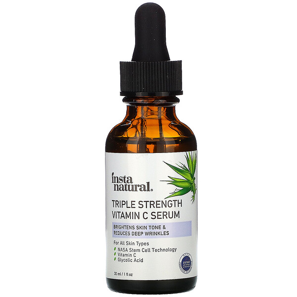InstaNatural, Triple Strength Vitamin C Serum, Anti-Aging, 1 fl oz (30 ml)
