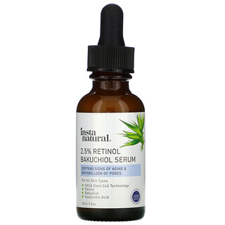 InstaNatural, 2.5% Retinol Bakuchiol Serum, 1 fl oz (30 ml)