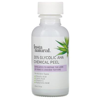 Купить InstaNatural 30% Glycolic AHA Chemical Peel, 1 fl oz (30 ml)