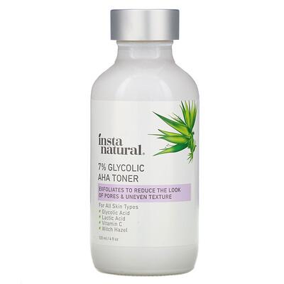 InstaNatural 7% Glycolic AHA Toner, 4 fl oz (120 ml)  - Купить