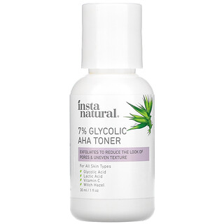 InstaNatural, 7% Glycolic AHA Toner, 1 fl oz (30 ml)