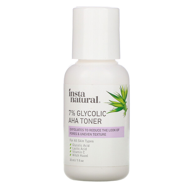 InstaNatural, 7% Glycolic AHA Toner, 1 fl oz (30 ml)