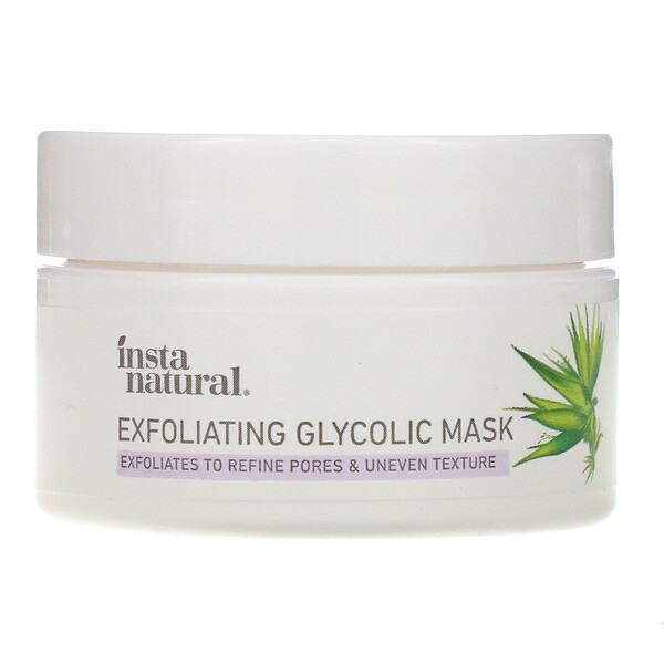 InstaNatural, Exfoliating Glycolic Mask, 0.50 oz (14 g) (Discontinued Item)