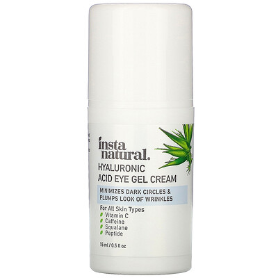 InstaNatural Hyaluronic Acid Eye Gel Cream, 0.5 fl oz (15 ml)