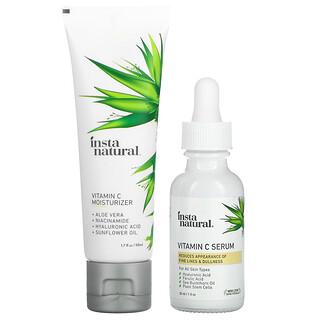 InstaNatural, Skin Brightening Vitamin C Essentials, Serum & Moisturizer Discovery Bundle, 1 Set