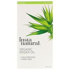InstaNatural, Органическое аргановое масло, на 100% чистое, холодного отжима и нерафинированное, 120 мл
