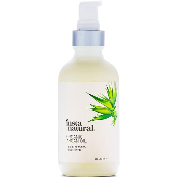InstaNatural, Organic Argan Oil, Cold-Pressed & Unrefined, 4 fl oz (120 ml)