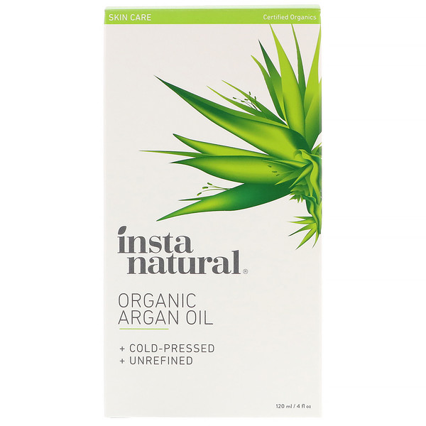 InstaNatural, Organic Argan Oil, 4 fl oz (120 ml) (Discontinued Item)