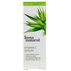 InstaNatural, Сыворотка с витамином C, гиалуроновой и феруловой кислотами, омолаживающая, 1 жид.унц. (30 мл.)