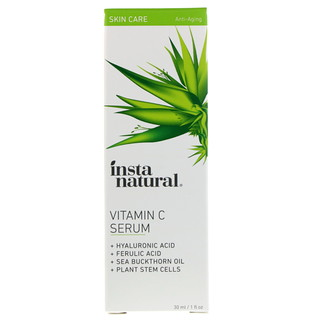 InstaNatural, Sérum vitamine C avec acide hyaluronique + acide félurique, Anti-âge, 1 fl oz (30 ml)