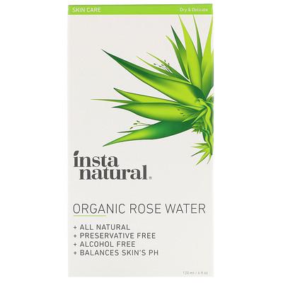 Organic Rose Water, Alcohol-Free, 4 fl oz (120 ml)