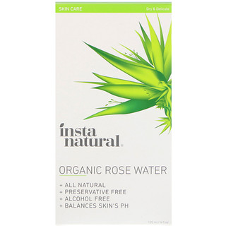 InstaNatural, Organic Rose Water, Alcohol-Free, 4 fl oz (120 ml)