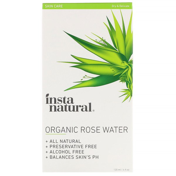 Organic Rose Water, Alcohol-Free, 4 fl oz (120 ml)